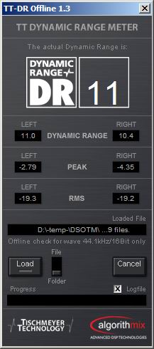 Dark Side of The Moon Dynamic Range Meter